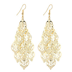 Žene Viseće naušnice Jewelry Stil višenja Bohemia Style Simple Style Elegantno kostim nakit Moda Vintage Glina Pozlaćeni Legura Leaf