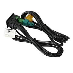 Kkmoon usb aux-audio plugue de cabo de áudio para vw passat b6 b7 cc touran polo facelift rcd510 / 310
