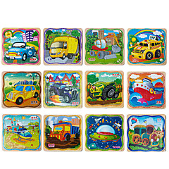 cheap -Jigsaw Puzzle Wooden Puzzles Pegged Puzzles Wood Model Educational Toy Square Wooden Wood Children's Gift