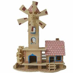 preiswerte -3D - Puzzle Holzpuzzle Holzmodelle Modellbausätze Berühmte Gebäude Haus Heimwerken Holz Klassisch Unisex Geschenk