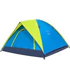 billige Telt og ly-OSEAGLE 3-4 personer Telt camping Tent Utendørs Turtelt Fukt-sikker Velventilert Vanntett Bærbar Vindtett Ultraviolet Motstandsdyktig