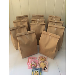 cheap Favor Holders-50pcs Grocery Store Bag 31.5 x 18 x 11 cm Brown Kraft Paper Bag Beter Gifts® Life Style