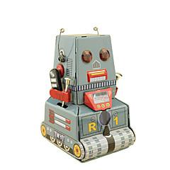 Robot Opwindspeelgoed Speeltjes Vierkant Tank Machine Robot Retro Niet gespecificeerd Stuks