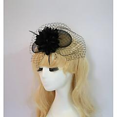 Resina Capacete-Casamento Ocasião Especial Halloween Festa/Noite Fascinador Flores Chapéus 1 Peça