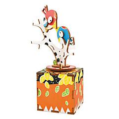 Puzzles Sets zum Selbermachen Holzpuzzle Bausteine Spielzeug zum Selbermachen Vogel Zeichentrick Naturholz