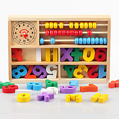 Blocos de Construir Brinquedo Educativo Ábaco Brinquedos Quadrada Madeira Peças Criança Dom