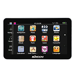 cheap -KKmoon 7 Portable HD Screen GPS Navigator 128MB RAM 4GB ROM MP3 FM Video Play Bluetooth Car Entertainment System with Back Support Free Map