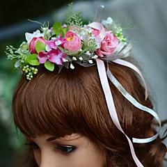 Capacete-Casamento Ocasião Especial Festa/Noite Bandanas Flores 1 Peça