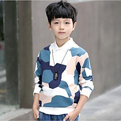 billige Hættetrøjer og sweatshirts til drenge-Børn Drenge Trykt mønster Langærmet Bomuld / Polyester Bluse Gul 110