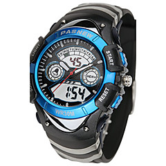 Kid's Sport Watch Digital Water Resistant / Water Proof Noctilucent Rubber Band Black