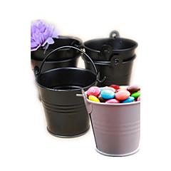 cheap Favor Holders-Tin Candy Pails Beter Gifts® Party Decorations - 12pcs/set - 7 x 6 x 6 cm/pcs