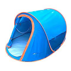 billige Telt og ly-2 personer Strandtelt Telt Enkelt camping Tent Ett Rom Pop opp telt Camping & Fjellvandring Vanntett Regn-sikker Støvtett Telt til