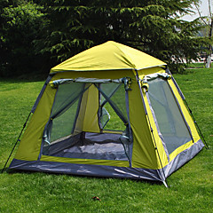 cheap Tents, Canopies & Shelters-3 - 4 person Screen House Tent Single Camping Tent Outdoor Automatic Tent Well-ventilated Waterproof Ultraviolet Resistant for Camping /