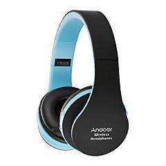 Kulak Üzerindeyim Kablosuz Kulaklıklar Plastik Cep Telefonu Kulaklık Ses Kontrollü Mikrofon ile Gürültü izolasyon kulaklık