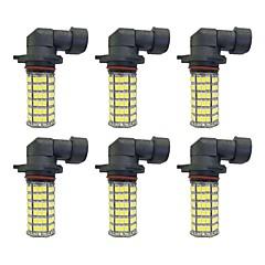 billige Tåkelys til bil-6pcs H8 9006 9005 H11 Bil Elpærer 4W W SMD 3528 385lm lm LED Light Bulbs Tåkelys