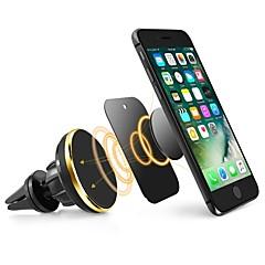 Χαμηλού Κόστους -ziqiao καθολική κάτοχος κινητού τηλεφώνου μαγνητική αεραγωγού mount stand 360 περιστροφή κινητό τηλέφωνο περιστροφής για τηλέφωνο iphone samsung