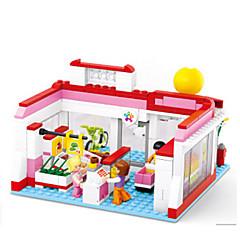 tanie Klocki magnetyczne-Klocki Figurki z klocków Zabawy w odgrywanie ról Zamek Dom Animals Dla dziewczynek Zabawki Prezent