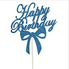 Acessórios do partido Ornamentos Acessório para Bolo Aniversário Festa de aniversário Família Aniversário Papel 1 Peça