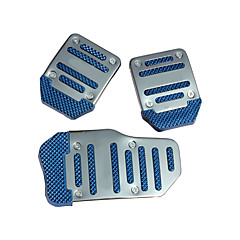 cheap Car Pedals-Blue 3PCS Auto Manual Pedal Pad