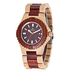 cheap Women's Watches-Women's Quartz Wrist Watch Japanese Wooden Wood Band Charm Luxury Wood Elegant Red Ivory