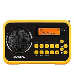 Χαμηλού Κόστους Ράδιο-Italker FM Φορητό ραδιόφωνο Ράδιο FM / Ενσωματωμένο ηχείο Κάρτα SD Παγκόσμιος δέκτης Μαύρο & Κίτρινο