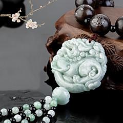 Diy pendentes automotivos estilo chinês esmeralda jade bravo tropas carro pingente&Ornamentos borlas de algodão de liga