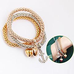 cheap Bracelets-Women's Girls' Leather Bohemian Leather Bracelet Wrap Bracelet - Bohemian Friendship Cross Circle Gold Silver Bracelet For Party Daily