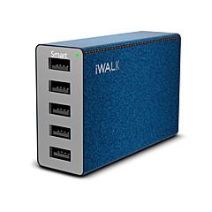 USB-laturi 5 Portit Työpöydän latausasema Smart-tunnistuksella Universaali Latausadapteri