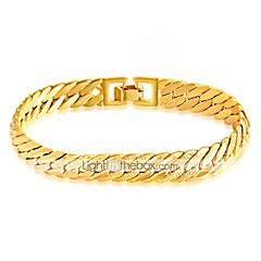 Pánské Řetězové & Ploché Náramky Módní Rock Gothic Pozlacené Line Shape Šperky Pro Street Klub