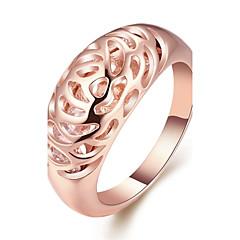 billige Motering-Dame Band Ring - Gullplatert rose, Legering Personalisert, Geometrisk, Mote 6 / 7 / 8 Rose Gull Til Bryllup Gave Aftenselskap