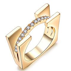 Damen Bandringe Kristall Basis Liebe Sexy Modisch individualisiert nette Art Luxus-Schmuck Klassisch Elegant Krystall Aleación