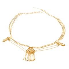 tanie Piercing-Damskie Biżuteria Łańcuszek na brzuch Stop Gold Silver Zaokrąglanie Spersonalizowane Kutas Vintage Artystyczny Biżuteria kostiumowa Na