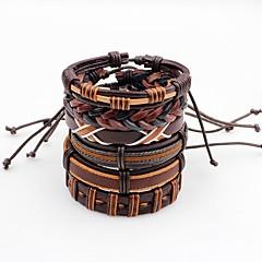 billige -Herre Lær Armbånd Multi-Måter Klær Mote Lær Uregelmessig Smykker Stadie Gate Kostyme smykker