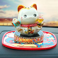 Diy autóipari díszek kínai stílusú kedves szerencsés macska parfüm autó medál&Kerámia dísztárgyak