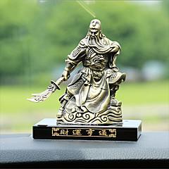 Diy ornamentos automotivos bronze decoração de interiores mobiliário para casa guan gong perfume assento rico pendente de carro