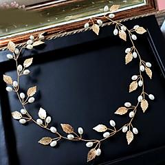 abordables Coiffes-Imitation de perle Alliage Bandeaux Coiffure Chaîne de tête with Fleur 1pc Mariage Occasion spéciale Anniversaire Toutes nos