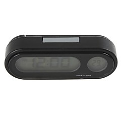 Ziqiao muoti auto kellon auto auto mini taustavalo vute lämpömittari kellonaika auto sähköinen katsella