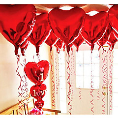 cheap Wedding Decorations-10pcs - 10inch Red Heart Shaped Balloons Beter Gifts® DIY Party Decoration