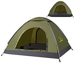 billige Telt og ly-LINGNIU® 2 personer Telt Enkelt camping Tent Ett Rom Brette Telt Hold Varm Vanntett Solkrem Solbeskyttelse til Camping & Fjellvandring