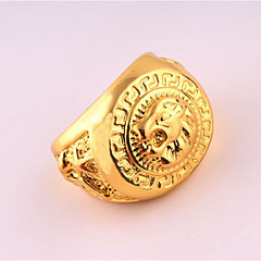 cheap Men's Jewelry-Men's Ring Unique Design Punk Rose Gold Plated Alloy Costume Jewelry Birthday Business Gift Daily Office & Career