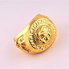 男性用 指輪 ユニーク パンクスタイル コスチュームジュエリー ローズゴールドめっき 合金 ジュエリー 用途 誕生日 日常