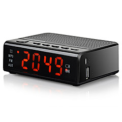 MX-19 Radio Ceas cu alarmă Sleep Timer Bluetooth Card TFWorld ReceiverNegru