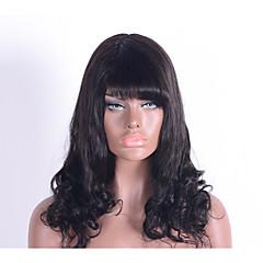 billige Lågløs-Human Hair Capless Parykker Menneskehår Klassisk Høj kvalitet Maskinproduceret Paryk Daglig