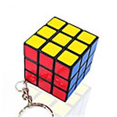 Rubiks kube Glatt Hastighetskube Glatt klistremerke Magiske kuber Nøkkelring Plastikker Kvadrat Gave