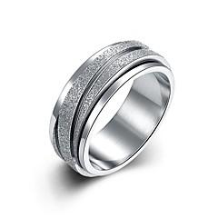 olcso -Férfi Női Karikagyűrűk Ékszerek Alap Divat Személyre szabott luxus ékszer minimalista stílusú Klasszikus Titánium Line Shape Ékszerek