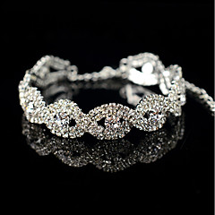 cheap Bracelets-Women's Gray Pearl Floral Tennis Bracelet - Floral Oval Silver Bracelet For Wedding Party Other