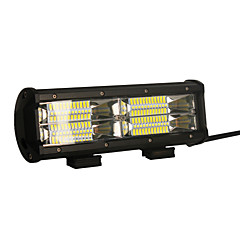 2PCS 144W 14400LM 6000K 3-Rows LED Work Light Cool White Flood Offroad Driving Light for Car/Boat/Headlight IP68 9-32V DC
