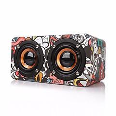 M5 Mini Style Bluetooth Bluetooth 4.0 3.5mm AUX Bookshelf Speaker Black Camouflage Color