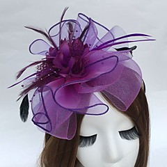 cheap Party Headpieces-Feather Net Headbands Fascinators 1 Wedding Party / Evening Headpiece