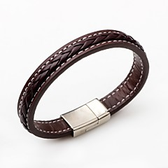 cheap -Men's Women's Leather Bracelet Simple Style Leather Round Jewelry For Gift Casual